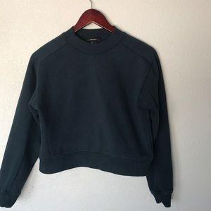 Forever 21 jewel tone teal mock neck sweatshirt